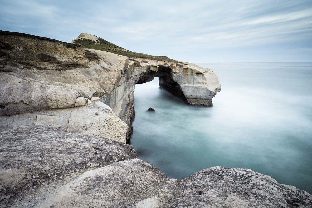 Tunnel beach rock arch