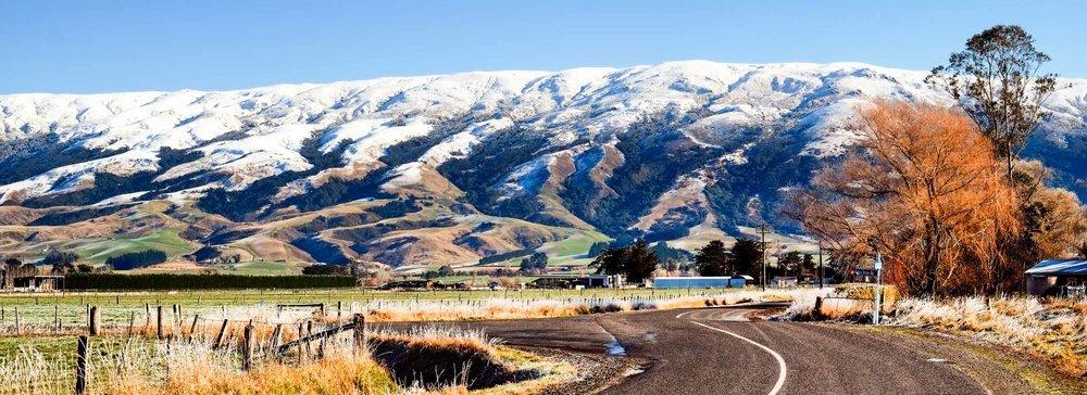 Taieri Plain and the Maungatua range.