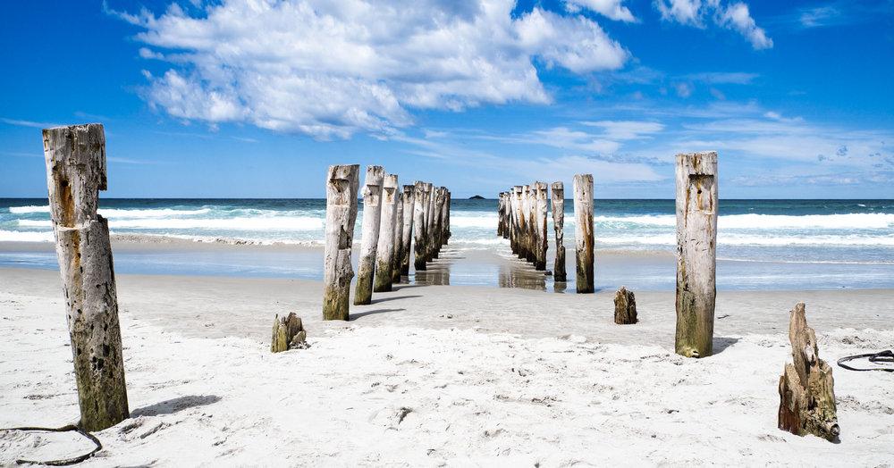 St Clair Beach Poles, Dunedin