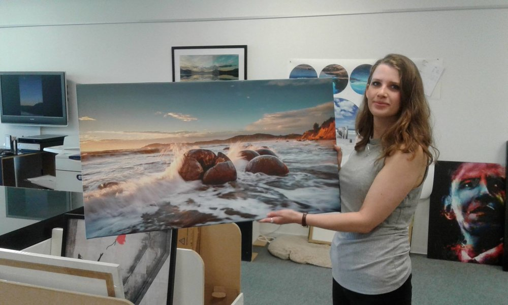 Moeraki Boulders on canvas