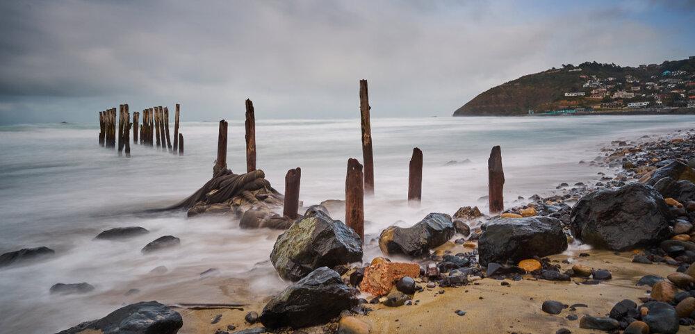 St Clair Beach Poles Dunedin 9