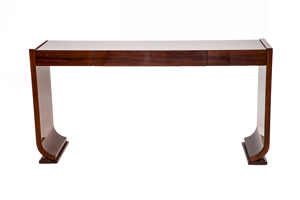 art deco style wood console