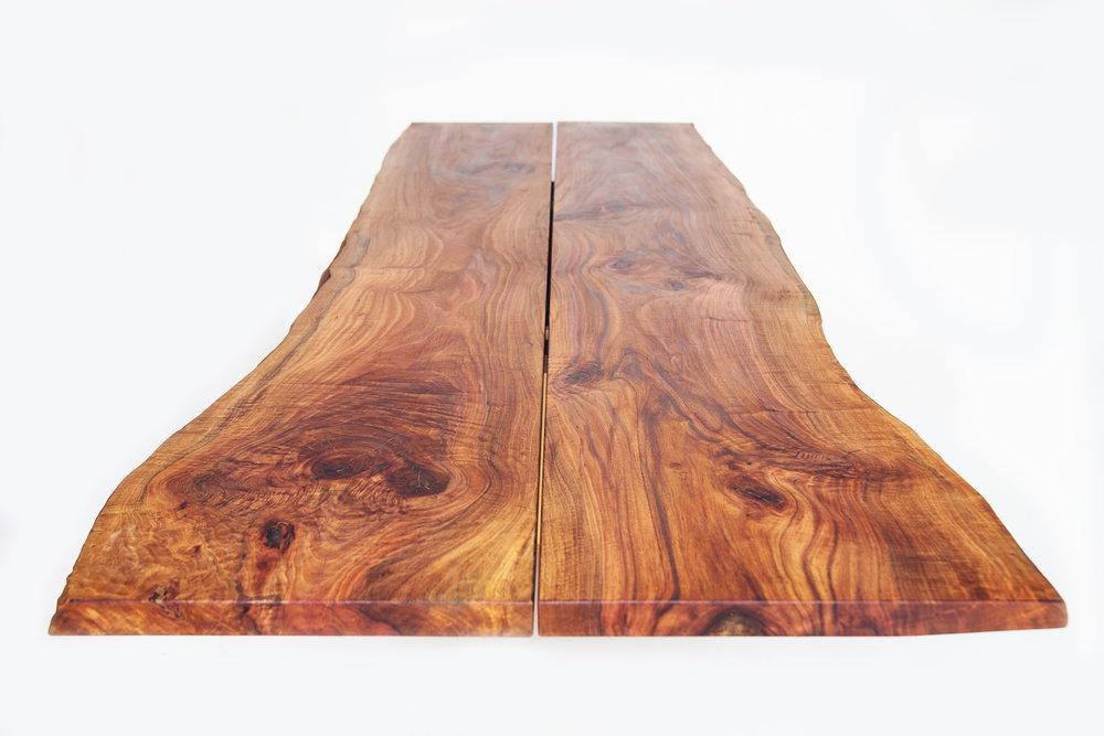 Australian pine slab dining table