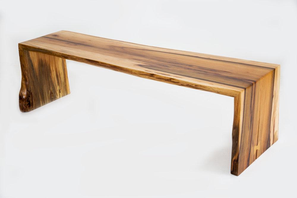 slab wood bench
