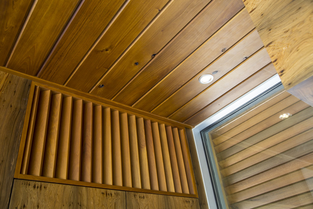 custom wood cypress ceiling