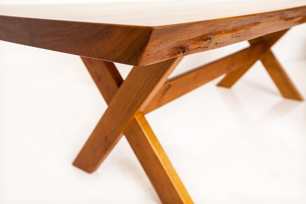 live edge slab solid wood picnic table