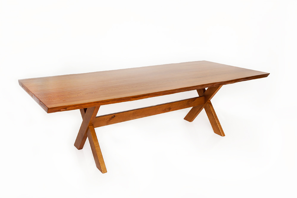 slab wood picnic dining table