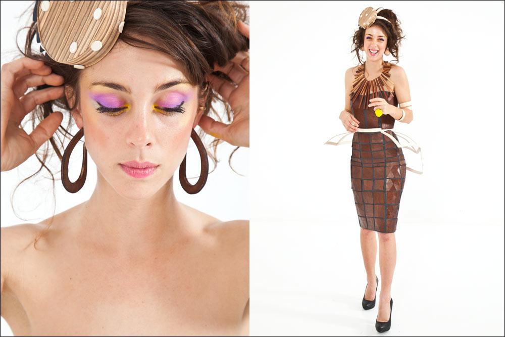 I concept wood dress