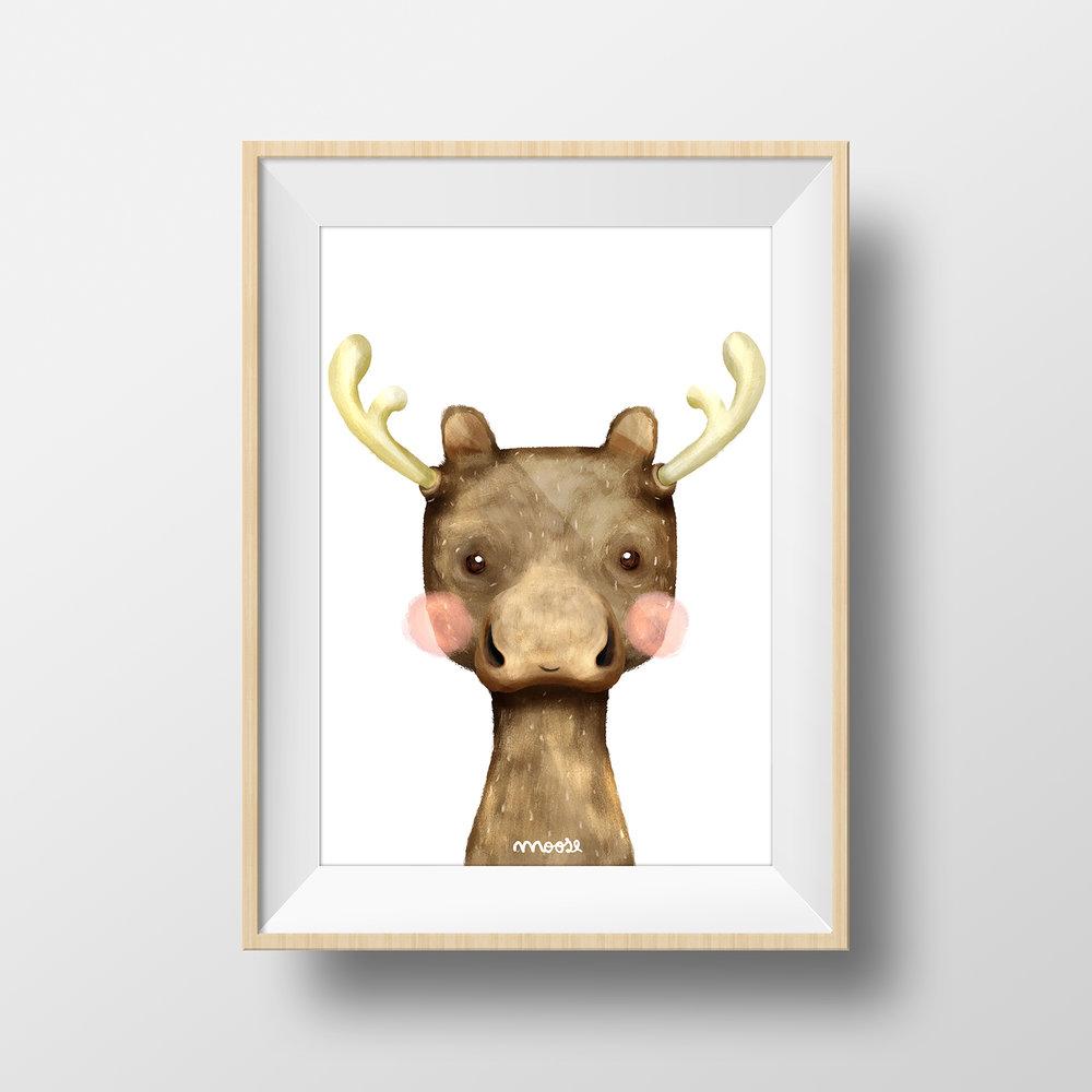 Moose — Alzira Illustration
