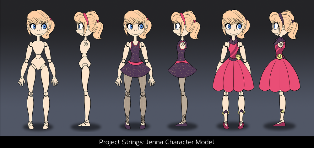 Character Concept for Animation : Ballerina Jenna