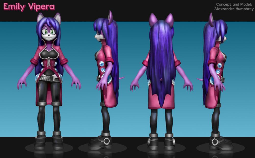 Emily Character Model