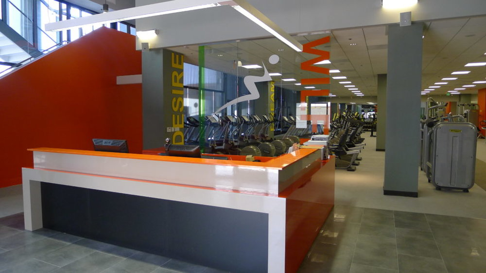 Front Desk of Wilfit Sports Club