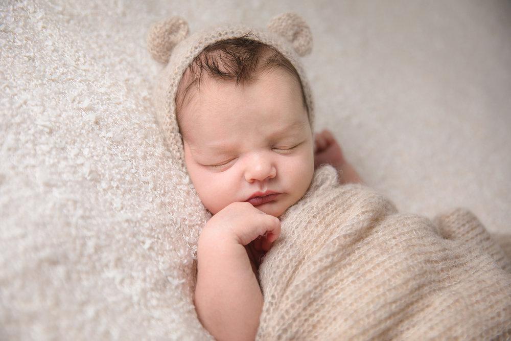 Newborn photography in studio, Herne Hill, London