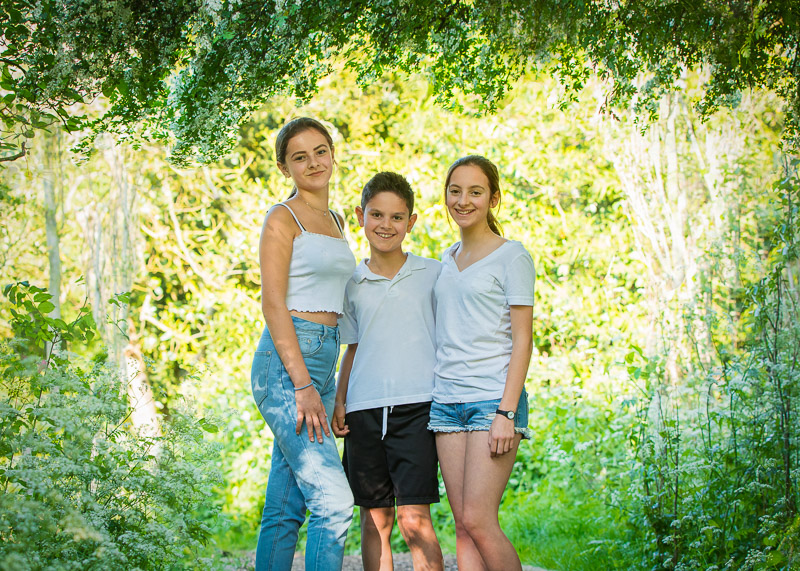 Family photography at Dulwich Park, South London