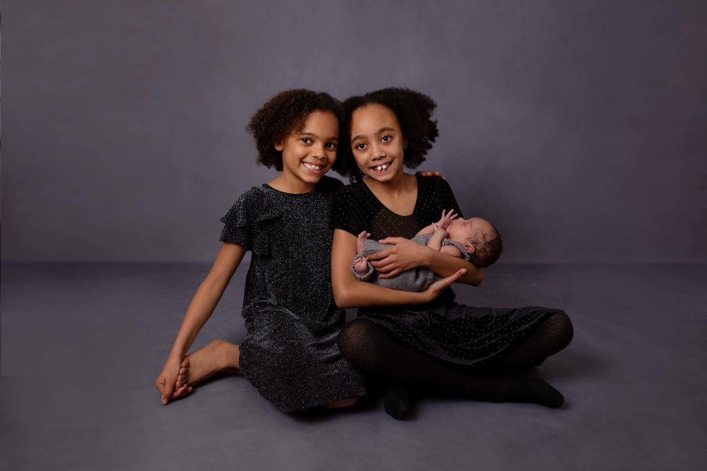 Newborn and family photography in studio, London, SE21