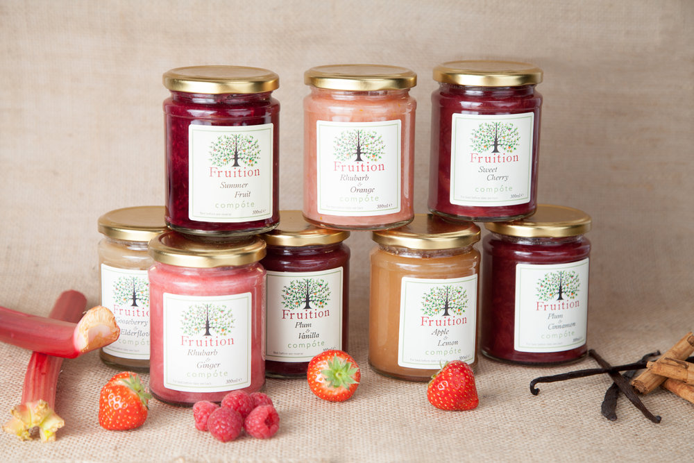 Product photography for London based Fruition Preserves