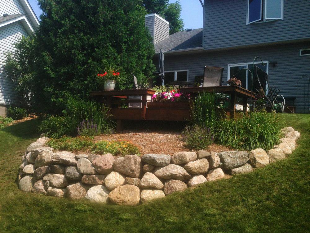 Garden Boulder Wall -