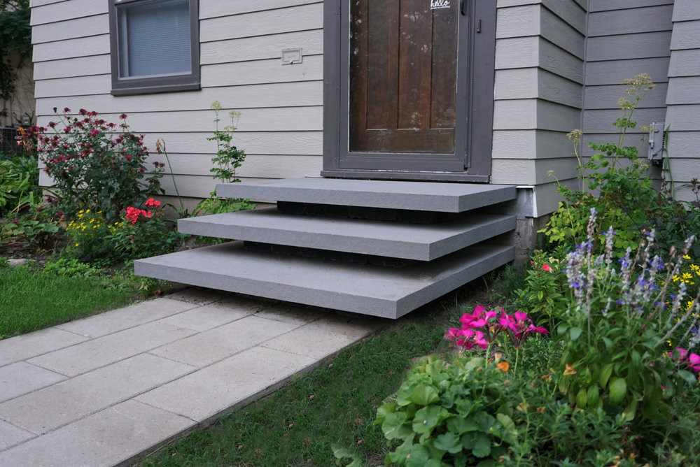 Floating Bluestone Stoop