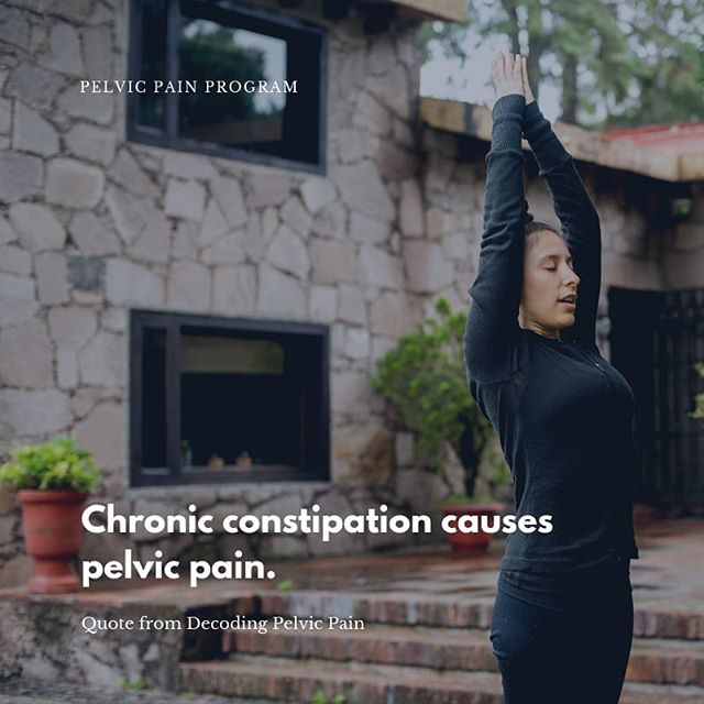 Chronic constipation causes pelvic pain, especially if it affects the lower colon.