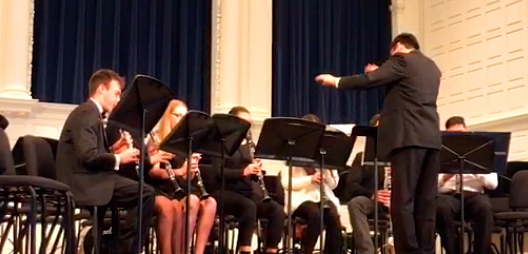 Conducting the Yale All-City Honors Clarinet Ensemble
