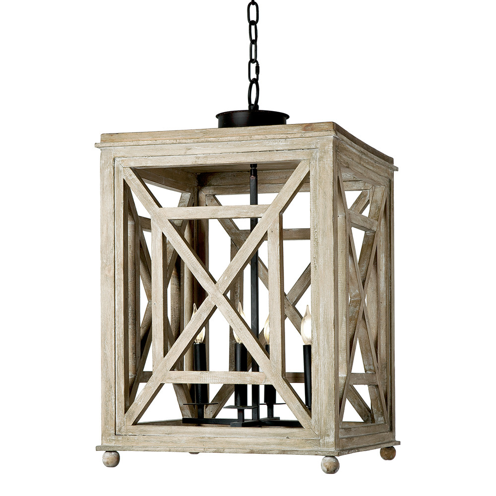 wood lattice lantern, rustic pendants