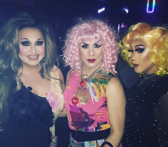 Ladies of the night!!!! Thanks to my special guests @jaylenetyme and @mina.mercury for joining me tonight for Queen, Please! At @thejunctionpub .  #vancouver #vancity #vancitybuzz #yvr #bc #siennablaze #empressXLV #empress45 #dragqueen #drag #siennablazedivas #friskygirlshow #divasatthejunction #queer #gay #lgbtq2a #lgbtq #westend #westendbia #daviestreet #davievillage #canadian #rpdr #pride #makeup #followme #qwerrkout  #werrrk