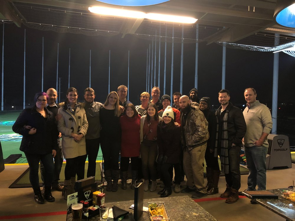 2018 Holiday Party at Topgolf