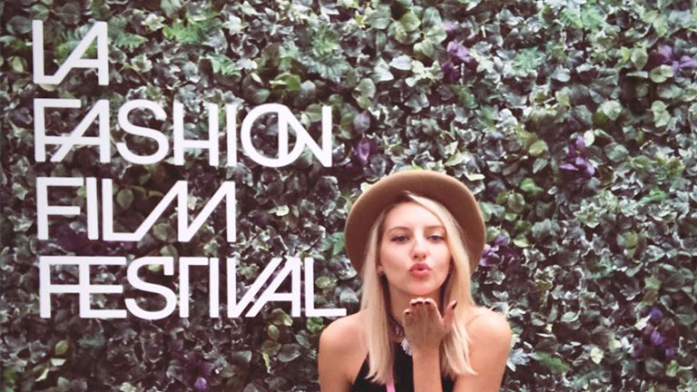 "Foliage ""Selfie' Wall for LA Fashion Film Festival - Built by SocialSet"
