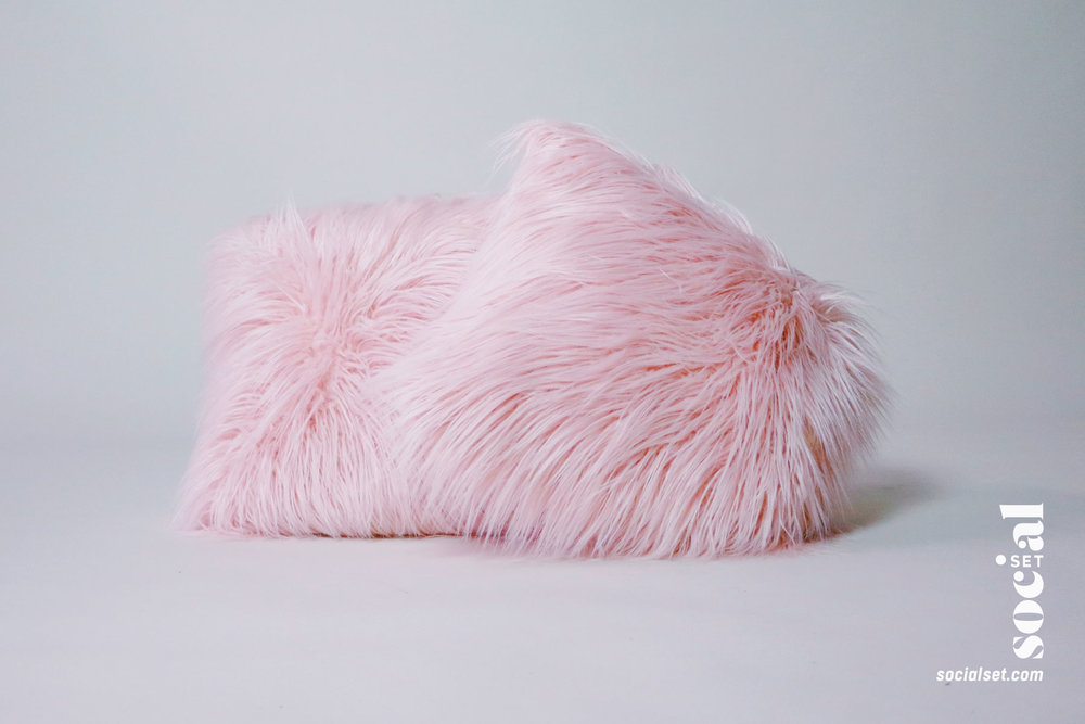 Fuzzy Pink Pillow Props