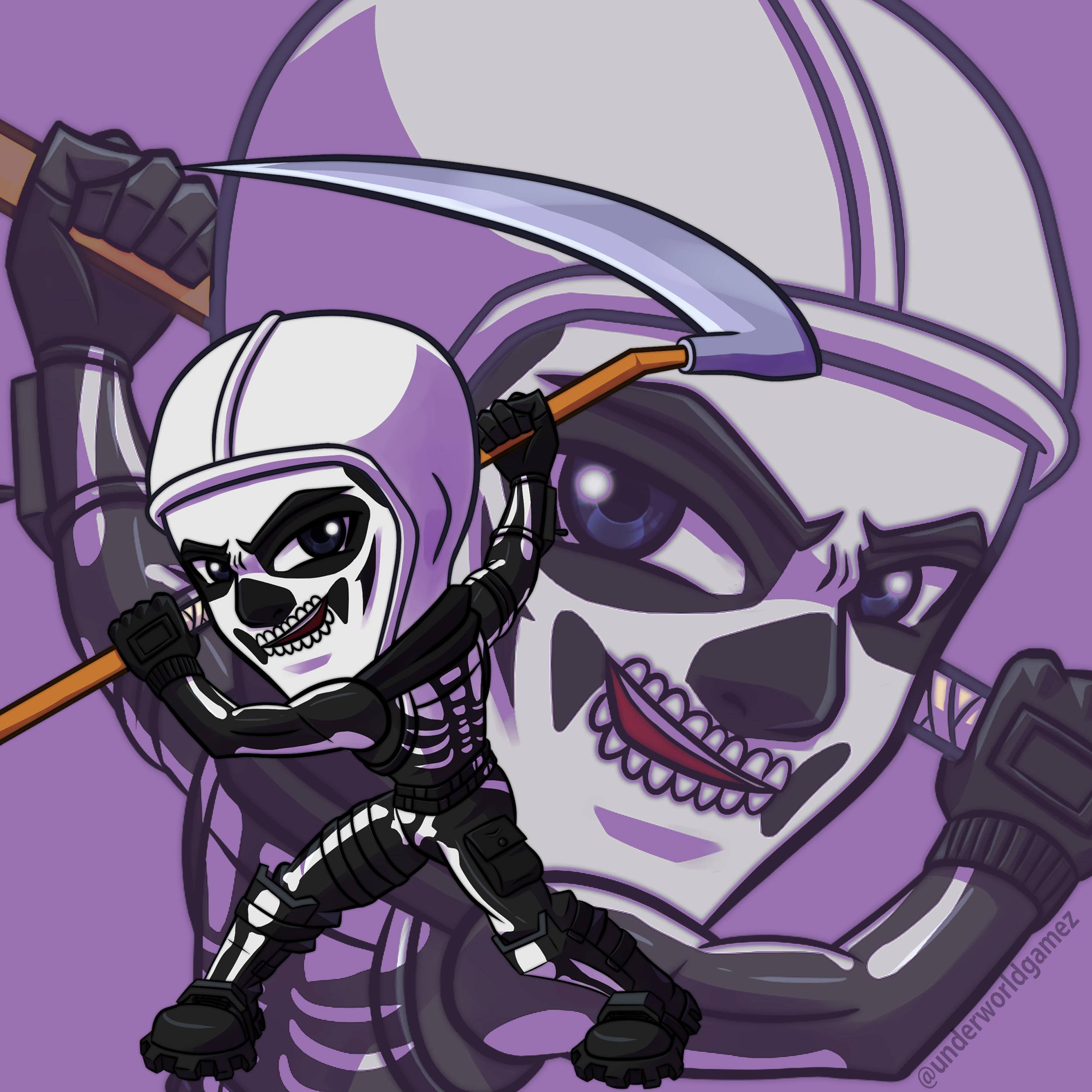 Skull trooper Fortnite 8x8 portrait — Underworld Gamez