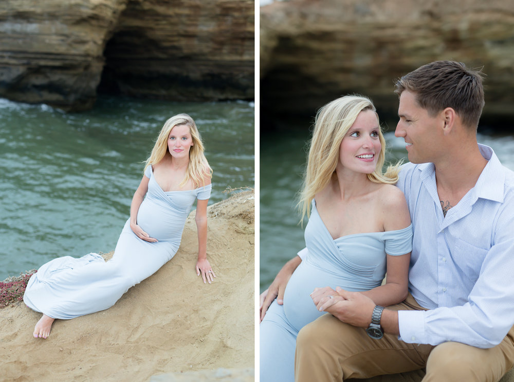 sunset cliifs san diego maternity photos