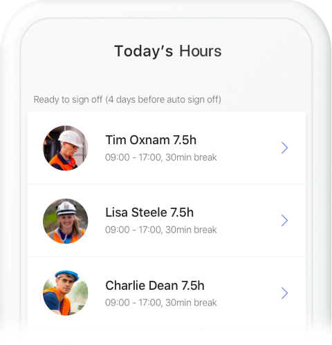 Finish the job - Approve your automatically generated timesheets and rate your workers.