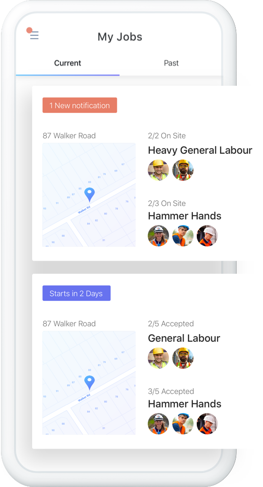 Track your team - See when your workers are on or off site and contact them instantly through the app.