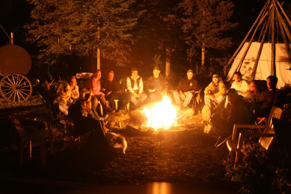 Nightly Campfire - Every evening we will have a campfire for contemplation, meditation, storytelling, and socializing.  If you have a guitar and know some songs to sing along to, please bring it...!