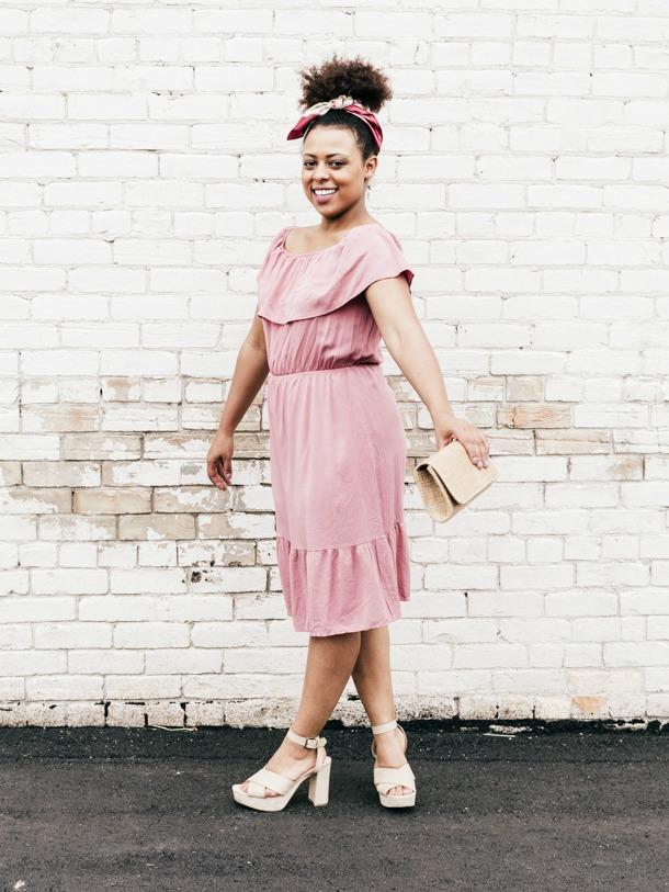 Cancun Dress in Pink