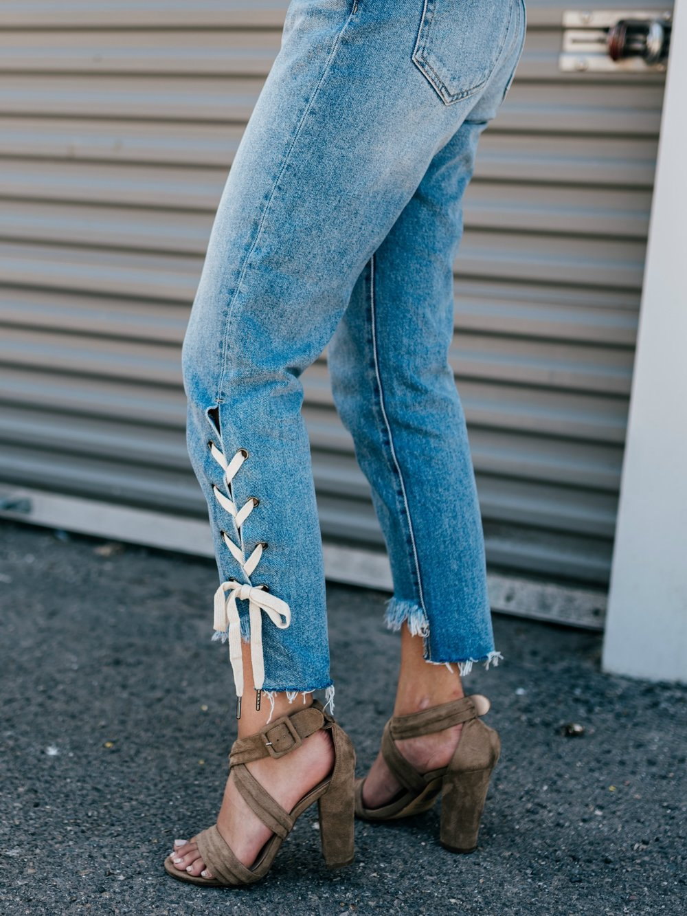 Daisy Laced Down Jeans