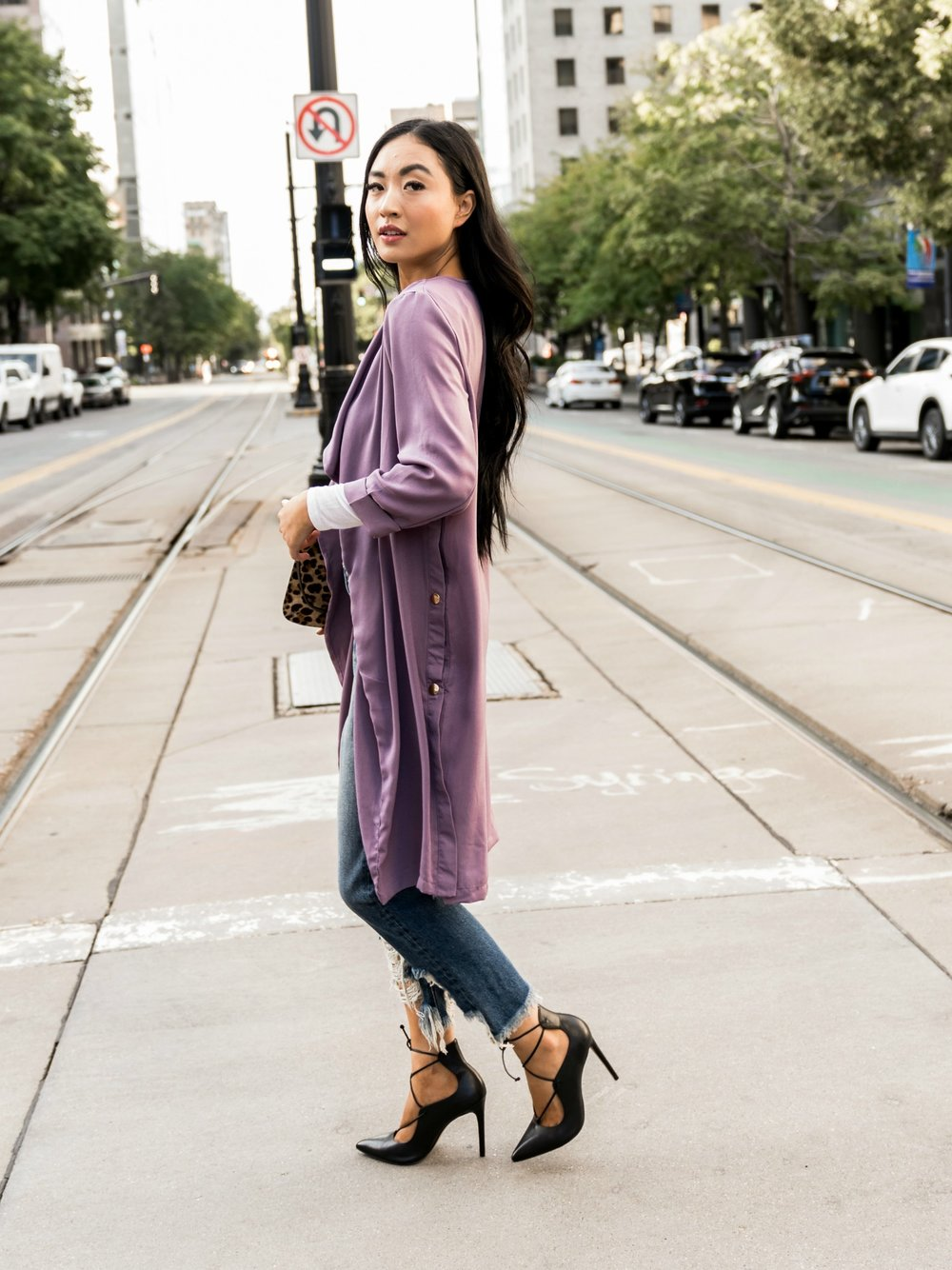 Rise and Shine Trench in Lavender