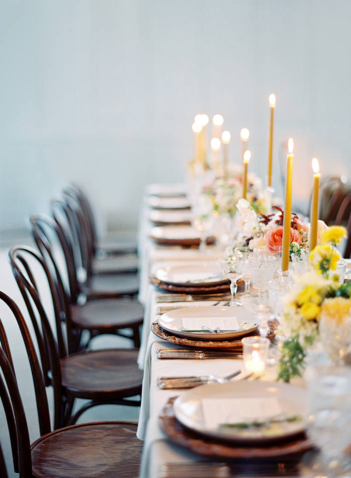 "- When every event on the day of the wedding occurs at a different venue, this usually adds a layer of complexity for guests who must factor in more time and energy into getting from point A to B, which may lead to a series of unpleasant experiences to an otherwise celebratory occasion. ""The flow of an event is extremely important,""Arons emphasizes. ""The event needs to progress in an organic way at the venue, and be designed with the guests' comfort in mind.  It is also an opportunity to treat your friends and family to new experiences through the wedding. Almost all of my events have some sort of 'reveal,' where guests are invited into a new space. I find it reenergizes the party and makes for a memorable wedding over all."""