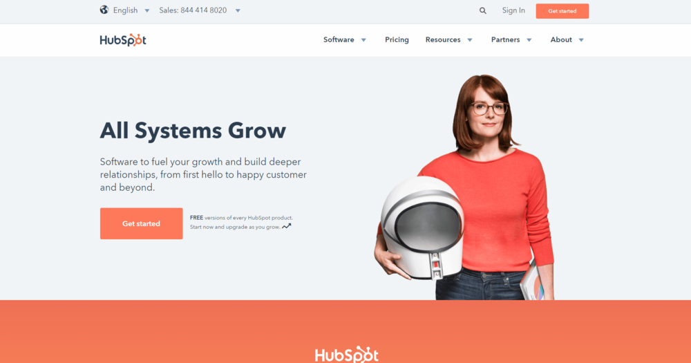 Hubspot - Pricing - Initially Free. Click on image for more details.