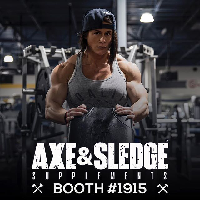 I'll be helping my friends @axeandsledge in Columbus at The Arnold Friday & Saturday! (booth #1915) - Come say what's up to me! Meet @sethferoce and the Axe & Sledge Crew! Plus check out the products that I actually use! - If you've been following me you already know I'm not sponsored & only promote products I truly use, trust, and believe in. @axeandsledge  has quickly became hands down one of my all time favorites! I starts every single workout with a scoop of Hydraulic. - #arnoldexpo #arnoldclassic #arnoldsportsfestival #ohio #axeandsledge #sethferoce #kristennun #girlswithmuscle #arnold2019
