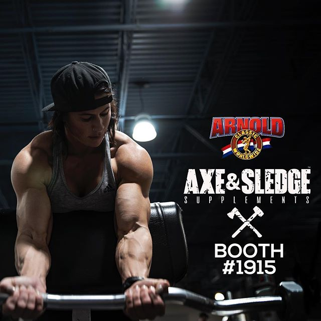 Getting pumped for the Arnold this weekend! - If you're there be sure to stop by the @axeandsledge booth (#1915) to say what's up! I'll be there Friday & Saturday. - #arnold2019 #arnoldclassic #arnoldclassic2019 #girlswithmuscles #axeandsledge #sethferoce #girlswholift