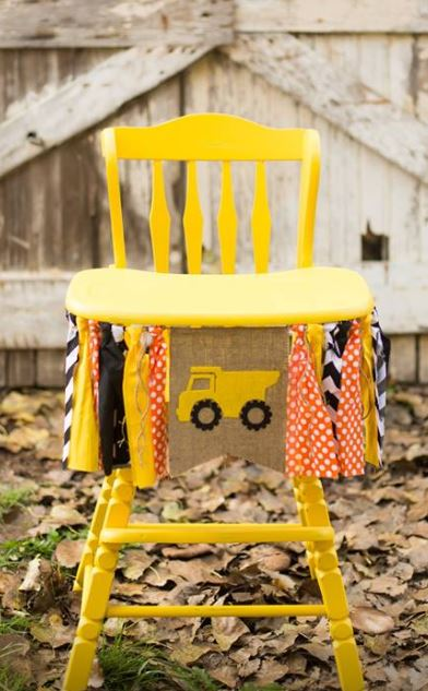 Yellow Vintage High Chair $35.00  Rent a Banner: $15.00  Colors based on availability  Colors: Navy Blue, grey