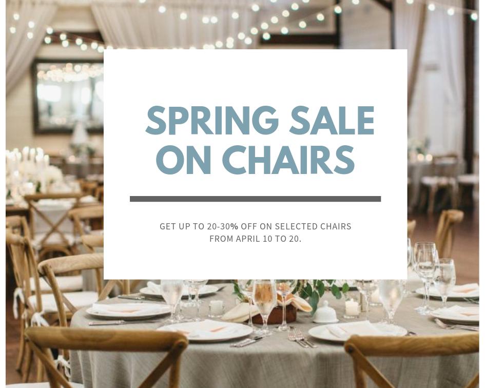 Sale on Cross-back chairs, gold chivari, silver chivari, mahogany chivari chairs.