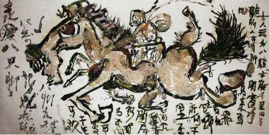After Dinner Calligraphy, 2012, Zheng Guogu and Yangjiang Group