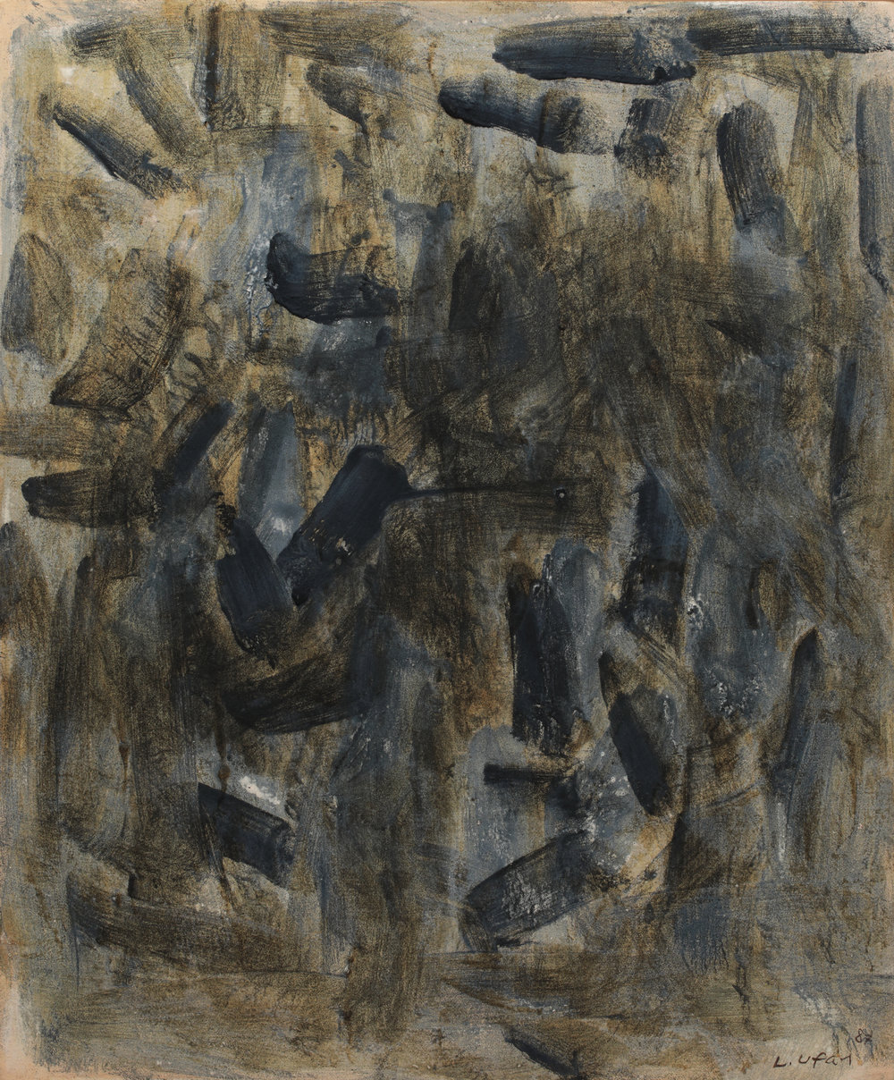 Lee Ufan, With Winds, oil and mineral pigments on canvas, 72.7x60cm, 1986-1987.JPG