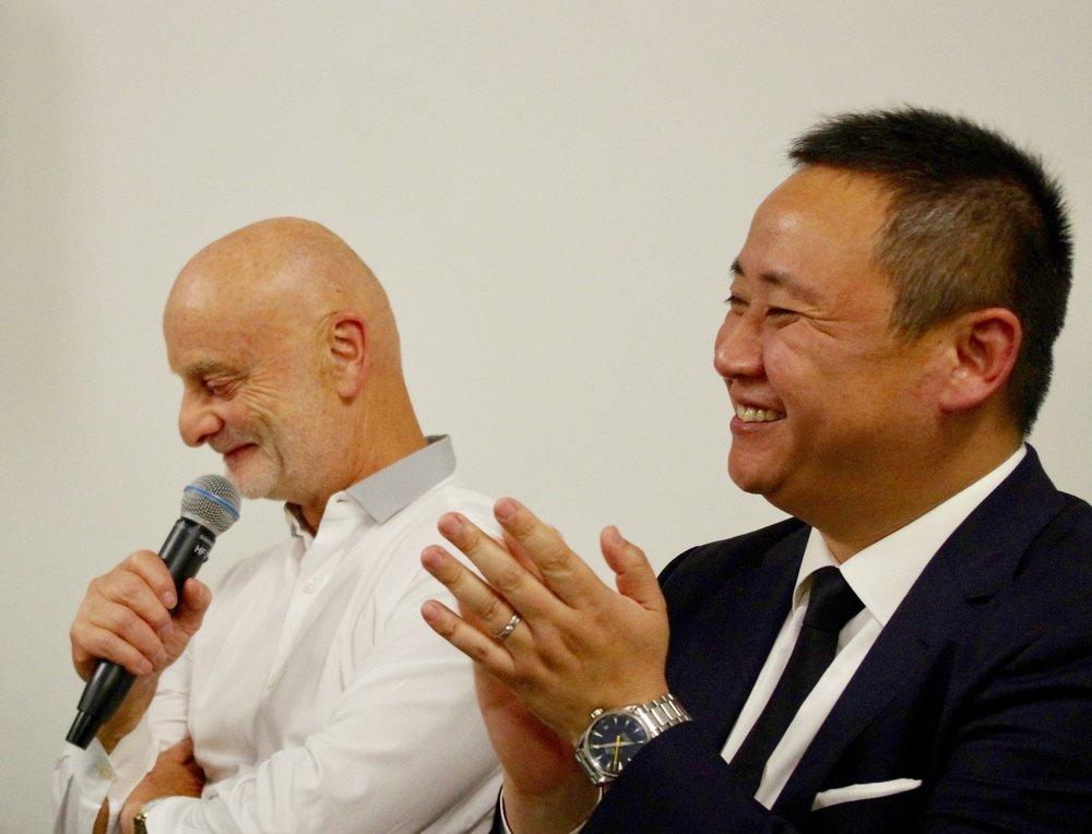 Uli Sigg, Collector and Pi Li, Curator at the M+ Museum, Hong Kong