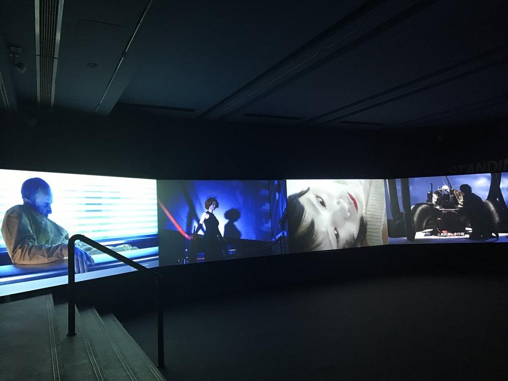 Yuan Keru,  Fleeting Strangers , 2017, 4-Screen video installation 27min10s. Courtesy of the artist & Leo Gallery.