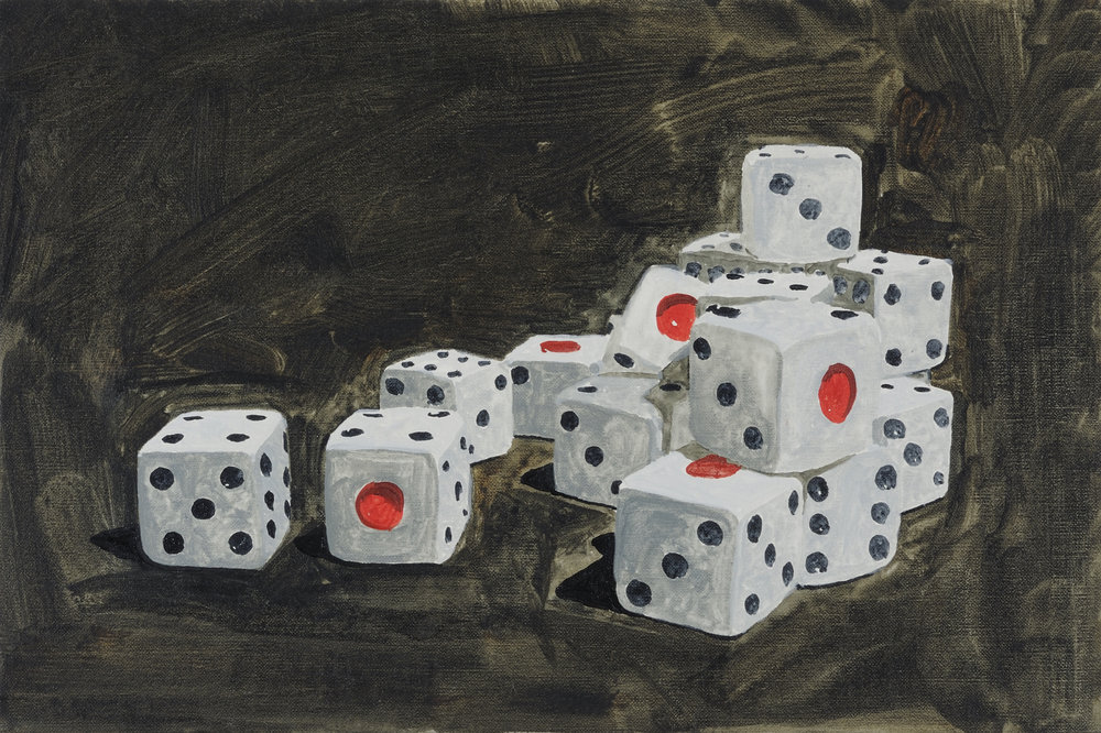 Shinichiro KANO,  Cause and effect,  2010, Oil on canvas, 27 x 41cm. Courtesy of the artist and S.O.C. Satoko Oe Contemporary.
