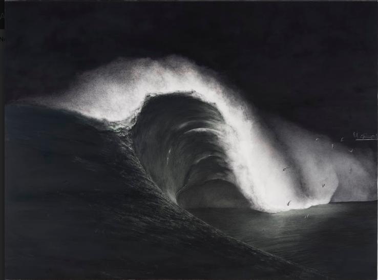Shiori Eda, Tsunami, 2014, huile sur toile, 194 x 259 cm. Courtesy the artist & A2Z Art Gallery