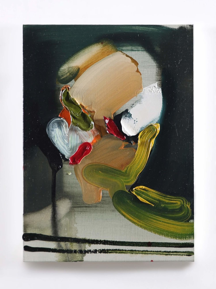 Yukimasa Ida,  End of Today 6/1 2018 - Self Portrait , 2018, huile sur toile, 33.3 x 24.2 cm. Courtoisie de l'artiste & Fabien Fryns Fine Art
